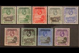 1922 Overprints Complete Set, SG 1/9, Fine Mint, Lovely Fresh Colours. (9 Stamps) For More Images, Please Visit Http://w - Ascension