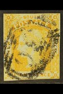 """NEW SOUTH WALES 1853 8d Orange Yellow, SG 80, Four Close To Good Margins, Part """"36"""" Cancel. For More Images, Please Visi - Unclassified"""