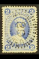 QUEENSLAND 1882-95 2s Bright Blue On Thick Paper, SG 157, Very Fine Used.  For More Images, Please Visit Http://www.sand - Unclassified