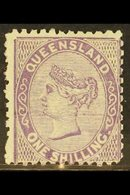 QUEENSLAND 1879-81 1s Pale Lilac Watermark W 6, SG 145, Fine Mint, Very Fresh. For More Images, Please Visit Http://www. - Unclassified