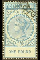 SOUTH AUSTRALIA 1886-96£1 Blue Perf 11½-12½, SG 199a, Very Fine Used. For More Images, Please Visit Http://www.sandafay - Unclassified