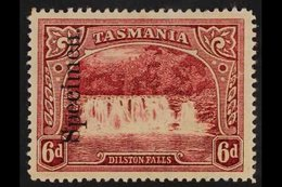 """TASMANIA 1899 6d Lake Dilston Falls, SG 236, Overprinted """"Specimen"""", Very Fine Mint. For More Images, Please Visit Http: - Unclassified"""