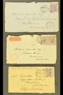 VICTORIA INWARD MAIL. 1863, 1864 & 1871 Cover Fronts With Some Faults, Sent From GB To Melbourne Bearing Various 6d Valu - Unclassified