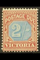VICTORIA POSTAGE DUE. 1890-94 2s Dull Blue & Brown Lake, SG D9, Fine Mint For More Images, Please Visit Http://www.sanda - Unclassified