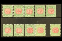 VICTORIA POSTAGE DUES 1895-96 Set Complete, SG D11/20, Very Fine Mint (10 Stamps) For More Images, Please Visit Http://w - Unclassified