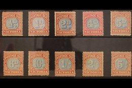 VICTORIA POSTAGE DUES 1890-94 Complete Set, SG D1/10, Mint, Fresh Colours. (10 Stamps) For More Images, Please Visit Htt - Australia