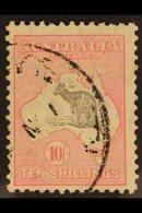1931-36 10s Grey And Pink Kangaroo, Die II, SG 136, Fine Used. For More Images, Please Visit Http://www.sandafayre.com/i - Unclassified