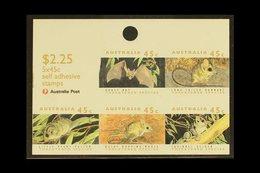 1992 RARE SHEETLET ERROR 1992 Threatened Species $2.25 Self Adhesive Sheetlet Of Five On Phosphorised Paper, SG 1328qa,  - Unclassified