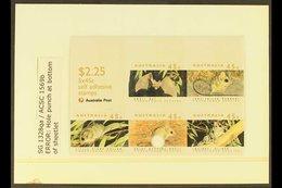 1992 SCARCE SHEETLET ERROR 1992 Threatened Species $2.25 Self Adhesive Sheetlet Of Five On Phosphorised Paper, SG 1328qa - Unclassified