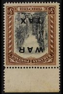 """1919 (July) 3d Black & Brown """"WAR TAX"""" Overprint With WATERMARK INVERTED AND REVERSED Variety, SG 105y, Never Hinged Min - Bahamas (...-1973)"""
