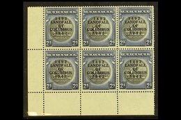 1942 2s Slate Purple & Indigo, SG 172, NHM Lower Left Corner Block Of 6. Lovely For More Images, Please Visit Http://www - Bahamas (...-1973)