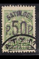 1920 (Jan-Feb) 50r On 2k Yellow-green Perf, SG 34, Very Fine Used. For More Images, Please Visit Http://www.sandafayre.c - Batum (1919-1920)