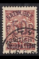 1920 (Jan-Feb) 50r On 5k Brown-lilac Perf, SG 37, Very Fine Used. For More Images, Please Visit Http://www.sandafayre.co - Batum (1919-1920)