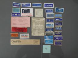 Aérophilatélie, Erinnophilie. étiquettes Postales, Par Avion, By Airmail, Mit Luftpost.(4) - Stamps