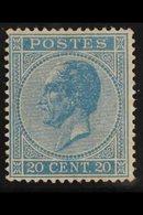 1865-66 20c Blue Perf 15 (SG 35, Michel 15 D, COB 18A), Fine Mint With Good Colour. For More Images, Please Visit Http:/ - Belgium