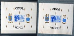 BELGIQUE BLOC FEUILLET X2 ORVAL 1941 DENTELÉ + NON DENTELÉ NEUF * MH ABBAYE BIÈRE TRAPPISTE MOINES - Blocs 1924-1960