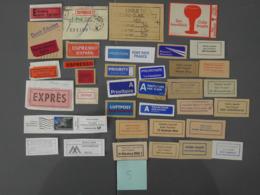 Aérophilatélie, Erinnophilie. étiquettes Postales, Par Avion, By Airmail, Mit Luftpost.(5) - Stamps
