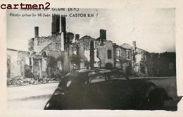 CARTE PHOTO ORADOUR-SUR-GLANE BRULEE PAR LES ALLEMANDS PHOTOGRAPHE B.H. CASTOR 87 - Oradour Sur Glane