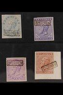 """SPECIMENS 1883 20c, 50c, 1fr And 2fr Imperf Ovptd Boxed """"Specimen"""", Very Fine Mint. (4 Stamps) For More Images, Please V - Belgium"""