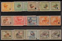 "BELGIAN CONGO 1923 Pictorial Set, COB 106/117, Superb Never Hinged Mint HORIZONTAL PAIRS With ""SPECIMEN"" Overprints And - Belgium"