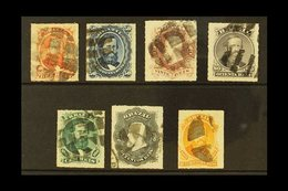 1876-77 Dom Pedro Rouletted Complete Set (Scott 61/67, SG 50/56), Fine Used, Fresh. (7 Stamps) For More Images, Please V - Unclassified