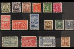 1906-1917 ALL DIFFERENT SMALL MINT COLLECTION Presented On A Stock Card & Includes 1906-16 400r, 500r, 700r, 100r, 2000r - Unclassified