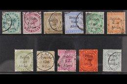 1895-96 Overprints On India Complete Set To 1r Slate, SG 49/59, Very Fine Cds Used, Very Fresh. (11 Stamps) For More Ima - Kenya, Uganda & Tanganyika