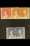 """1937 Coronation Set Perforated """"Specimen"""", SG 107s/9s, Fine Mint. (3 Stamps) For More Images, Please Visit Http://www.sa - British Virgin Islands"""