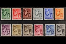 1938-47 CHALK PAPERS KGVI Definitive Complete Set, SG 110/21, Very Lightly Hinged Mint With Vibrant Colours. (12 Stamps) - British Virgin Islands