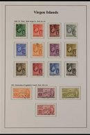 1938-52 USED KGVI COLLECTION A Well Presented, All Different Collection, Light Hinged Onto Printed Sleeved Pages That In - British Virgin Islands