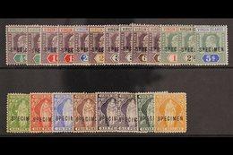 "SPECIMENS 1899 Virgin Set To 1s With Additional 6d Shade And 1904 Ed VII Set To 5s With Additional Values Overprinted ""S - British Virgin Islands"