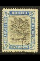 1907-10 5c Grey-black & Blue, Wmk Mult Crown CA, SG 27, Very Fine Used. For More Images, Please Visit Http://www.sandafa - Brunei (...-1984)