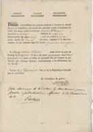 Landau An 2 - 27.7.1794 Laisser Passer D'Antoine Withelm De Brunstatt - Documents Historiques