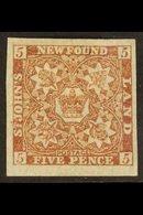 1862 5d Red Brown, SG 19a, Fine Mint, Large Part Og, Huge Margins. For More Images, Please Visit Http://www.sandafayre.c - Newfoundland And Labrador