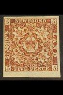 1862 5d Red Brown, SG 19a, Superb Mint Og With Huge Margins. For More Images, Please Visit Http://www.sandafayre.com/ite - Newfoundland And Labrador