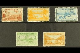 1933 Tourist Publicity Set Complete, SG 230/4, Fine And Fresh Mint. (5 Stamps) For More Images, Please Visit Http://www. - Newfoundland And Labrador