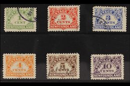 POSTAGE DUE 1939-49 Complete Set, SG D1/D6, Very Fine Used. (6 Stamps) For More Images, Please Visit Http://www.sandafay - Newfoundland And Labrador