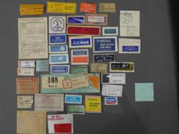 Aérophilatélie, Erinnophilie. étiquettes Postales, Par Avion, By Airmail, Mit Luftpost.(7) - Stamps