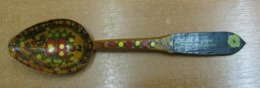 AC -  WOODEN SPOON HAND MADE & PAINTED KADIKOY, 22 JULY 1964 FROM TURKEY - Löffel