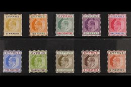 1904-10 KEVII Definitive MCA Wmk Set To 12pi, SG 60/69, Very Fine Mint. (10 Stamps) For More Images, Please Visit Http:/ - Cyprus