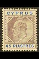 1912-15 45pi Dull Purple & Ultramarine, SG 71, Fine Mint For More Images, Please Visit Http://www.sandafayre.com/itemdet - Cyprus