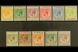 1912-15 Watermark Multi-Crown CA Complete Set, SG 74/84, Fine Mint. (11 Stamps) For More Images, Please Visit Http://www - Cyprus