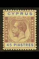 1924-28 45pi Purple And Blue, SG 116, Very Fine Mint. For More Images, Please Visit Http://www.sandafayre.com/itemdetail - Cyprus