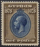"""1928 £1 Blue And Bistre-brown """"50th Anniversary Of British Rule"""", SG 132, Superb Never Hinged Mint. For More Images, Ple - Cyprus"""