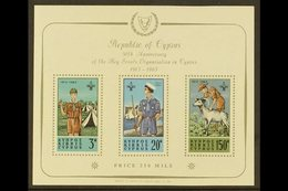 1963 Scout Movement Miniature Sheet, SG MS231a, Fine Never Hinged Mint. For More Images, Please Visit Http://www.sandafa - Cyprus