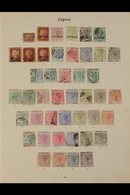 """TREMENDOUS COLLECTION ON """"IMPERIAL"""" ALBUM PAGES Of Mint & Used Stamps With Almost Every Space Filled, Includes The 1880  - Cyprus"""