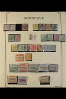 1874-1957 MINT & USED COLLECTION Presented On Album Pages, We See 1874 1d Lilac Unused, 1s Dull Magenta Used, 1877-9 Wmk - Dominica (...-1978)
