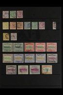 1874-1965 USED COLLECTION/ACCUMULATION Presented On Stock Pages With Useful Ranges, Shades & Postmark Interest. Includes - Dominica (...-1978)