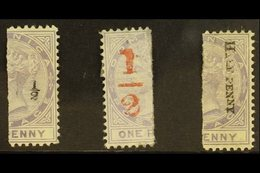 1882-83 Vertically Bisected Set, SG 10/12, Fine Mint (3 Bisects) For More Images, Please Visit Http://www.sandafayre.com - Dominica (...-1978)