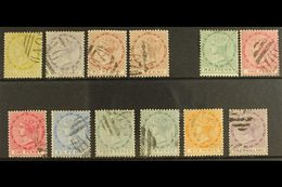 1883-90 CA WATERMARK SELECTION Including 1883-86 Complete Set (SG 13/15) & 1886-90 Complete Set (SG 20/26). Lovely (12 S - Dominica (...-1978)